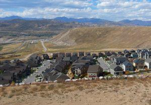 housing development encroaching on foothills