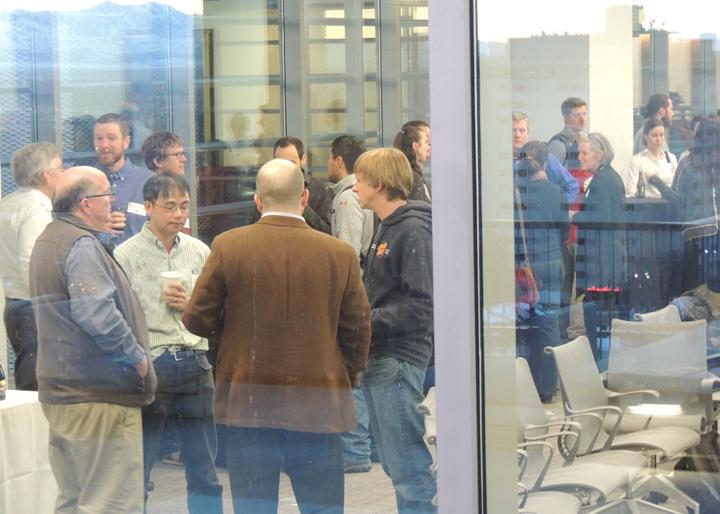 faculty seen through window
