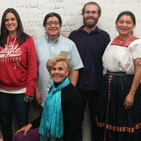 Isabel Dulfano and students