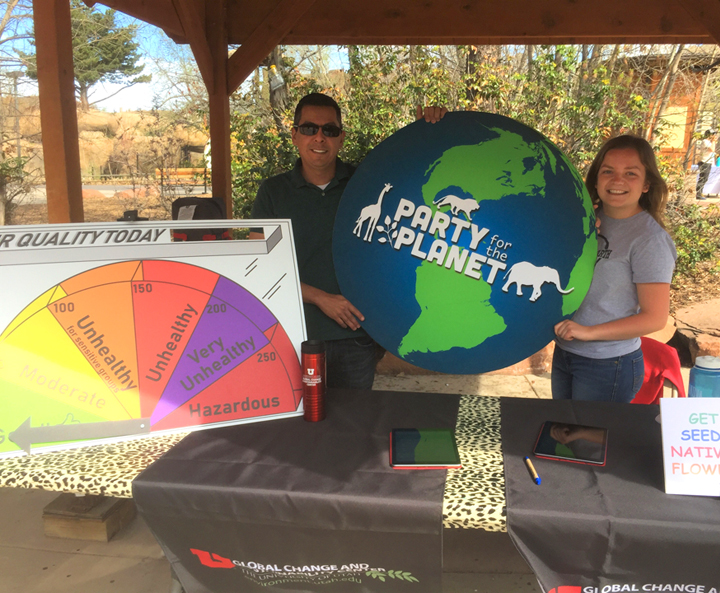 Raul Ochoa (left) and Mikala Jordan (right) at the Hogle Zoo for Party for the Planet eventon April 20, 2019.