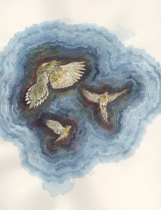 painting: mourning doves by Claire Taylor
